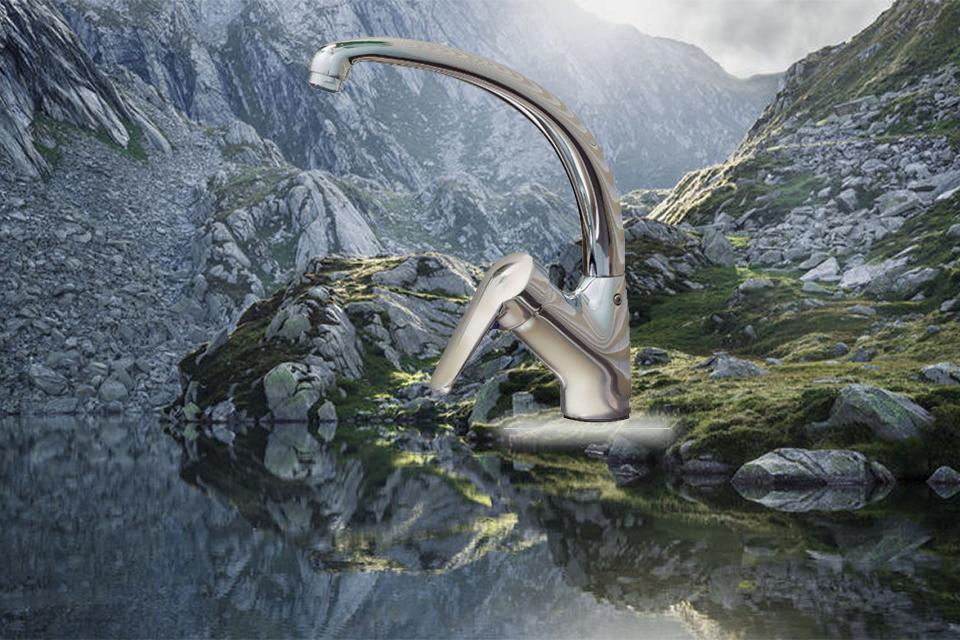شیر آشپزخانه تاپ لاین مدل اکسمارت کی دبلیو سی
