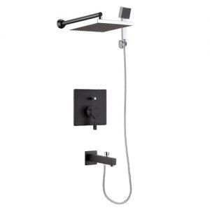شیر حمام تیپ4 توکار مدل آوا مشکی کی دبلیو سی
