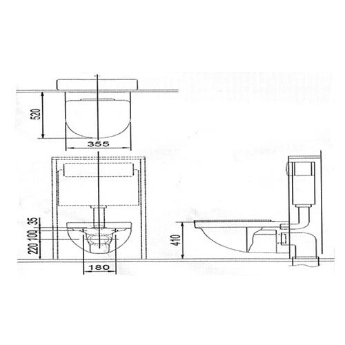 توالت فرنگی وال هنگ توتو مدل CW272M