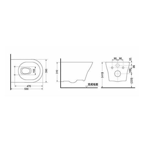 توالت فرنگی وال هنگ توتو مدل CW162B