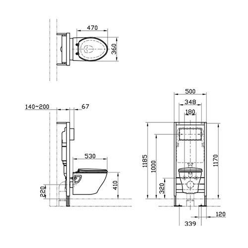 توالت فرنگی وال هنگ توتو مدل CW941K