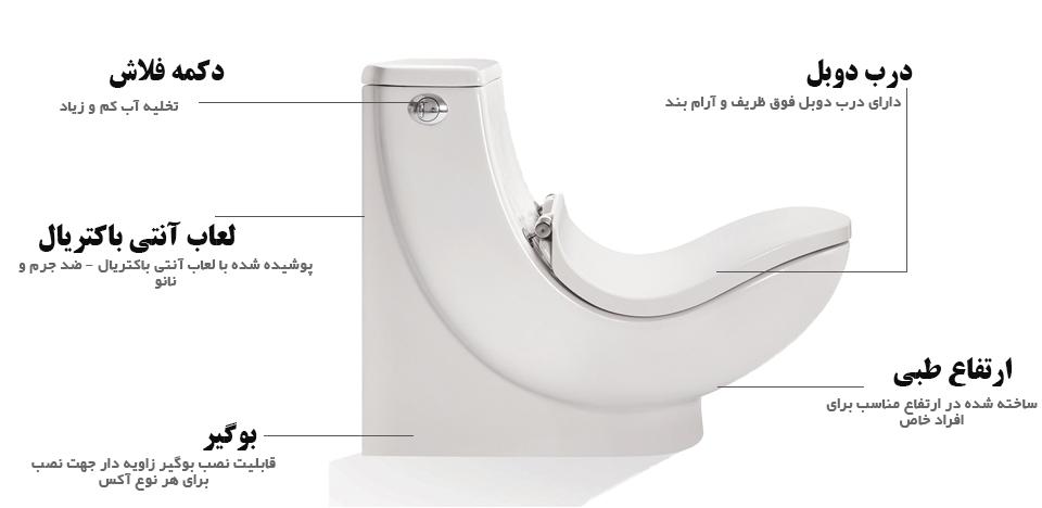 توالت فرنگی مروارید مدل طبی سیلویا