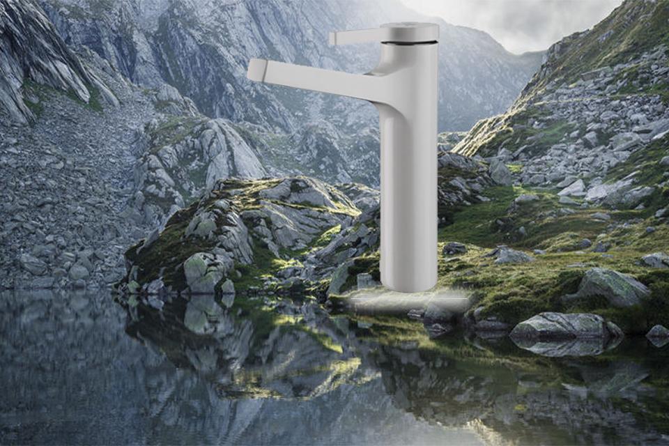 شیر روشویی پایه بلند مدل آوا سفید کی دبلیو سی