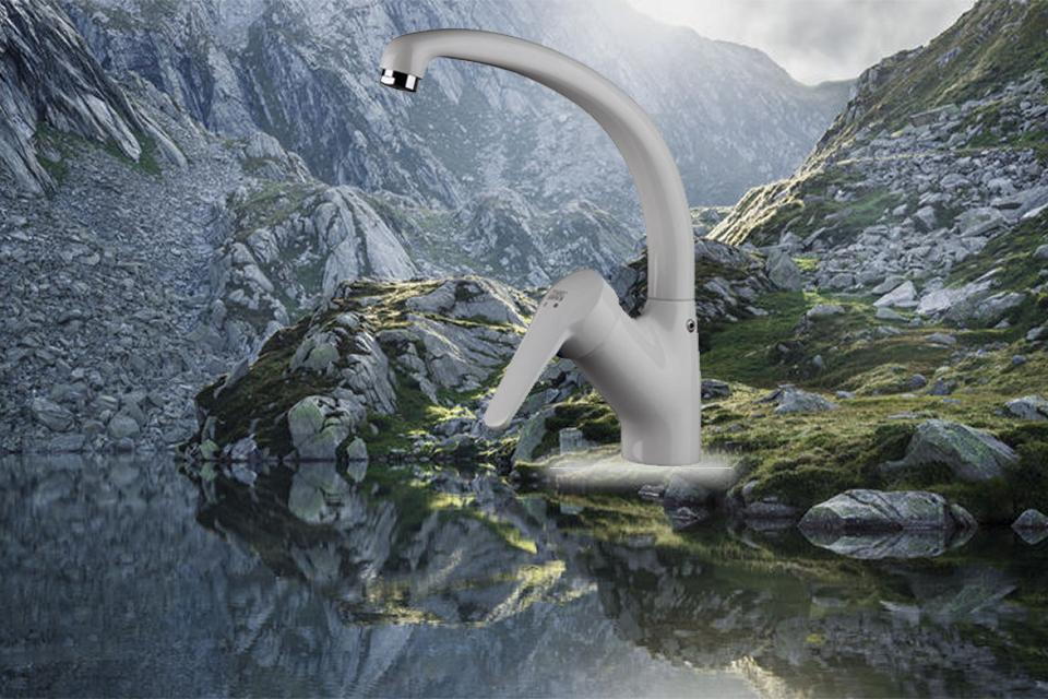 شیر آشپزخانه تاپ لاین مدل اکسمارت سفید کی دبلیو سی