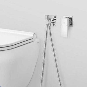 شیر توکار توالت مدل لاکچری فلت کروم کلار