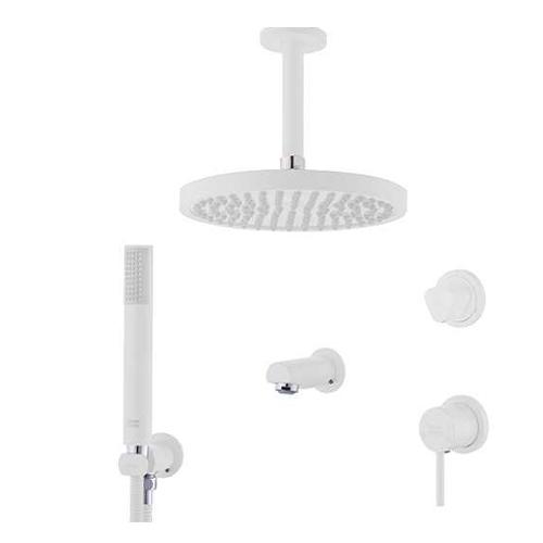 شیر توکار حمام تیپ3 مدل لاکچری فلور سفید کلار