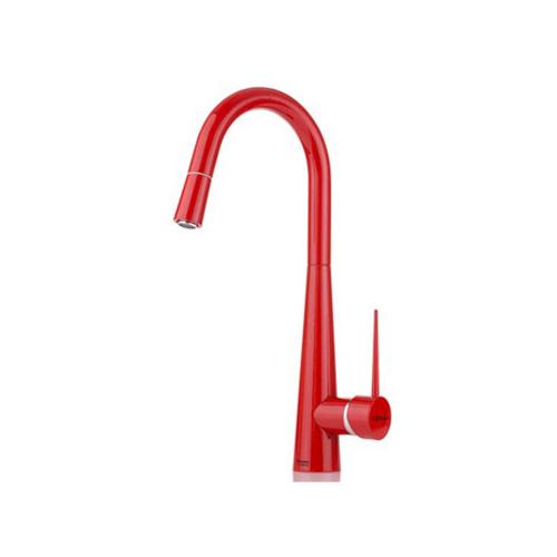 شیر ظرفشویی شاوری مدل ایتن قرمز شودر