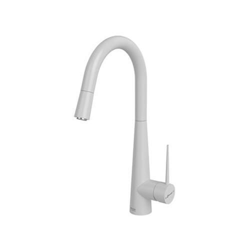 شیر ظرفشویی شاوری مدل ایتن سفید کروم شودر