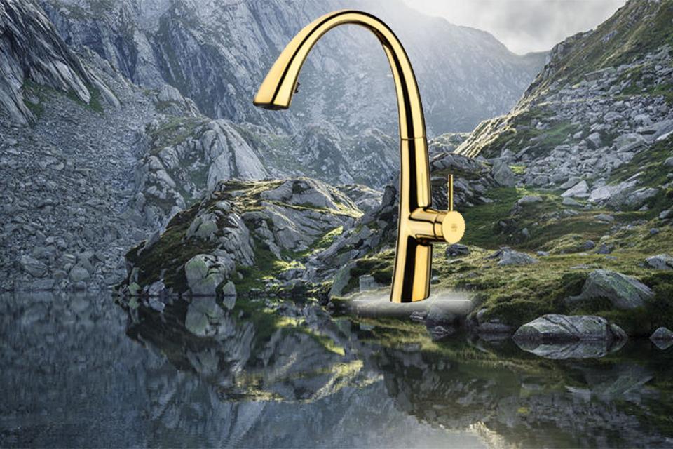 شیر آشپزخانه مدل زو شاوری طلایی کی دبلیو سی